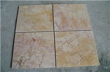China Popular Cheap Red Cream Rose Beige Polished Marble Floor Wall Tiles/Slabs, Natural Building Stone for Interior Decoration Use, with Red Veins/Lines Pattern, Covering, Skirting