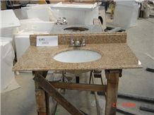 G682 Rust Yellow in Og Edge,Sunset Gold Rusty Yellow Granite Kitchen and Stone Bathroom Countertops,G682 Granite Slabs for Yellow Granite Countertops,G682 Vanity Top