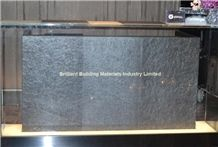 Otta Quartzite Furniture Reception Desk, Black Norway Quartzite Tabletops, Reception Desk