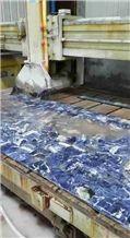 Semi Transparent Blue Agate Plate