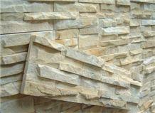 Beige Quartzite Cultured Stone, Gold Vein Yellow Quartzite Cultured Stone