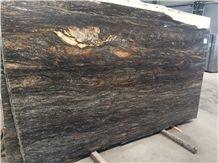 Black Fusion Granite Slab, Brazil Black Granite