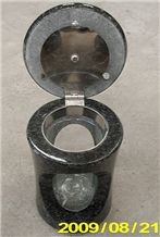 Black Impala Granite Monumental Vase
