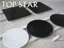 Black Granite Rectangle Table Dining Tops