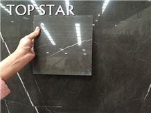 Polished Pietra Grigio Dark Grey Marble Floor