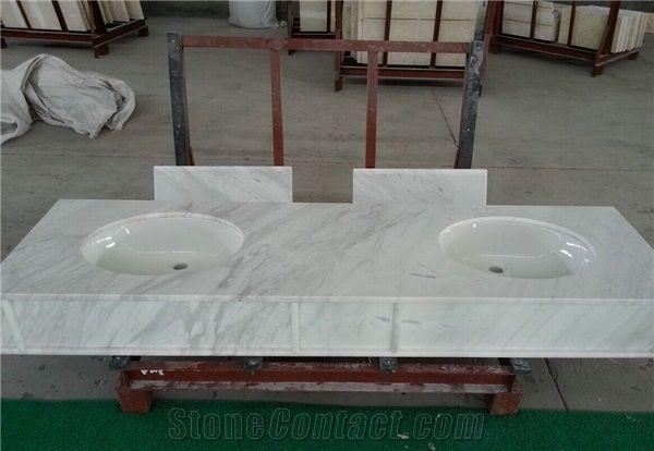 Volakas White Marble Bathroom