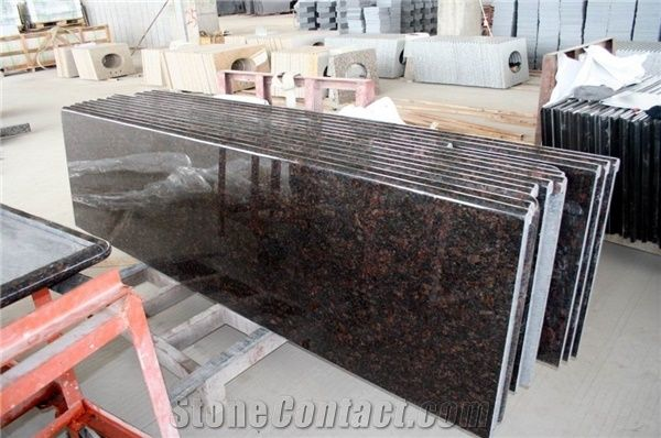 Tan Brown Granite Kitchen Countertops/Worktop, India Brown