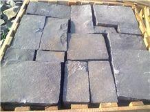 Black/ Grey Basalt - Handmade Cobbles