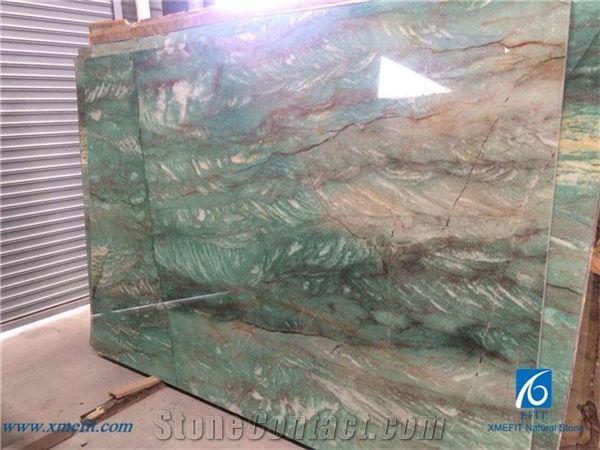 Emerald Green Quartzite Tiles Slabs Brazilian Green