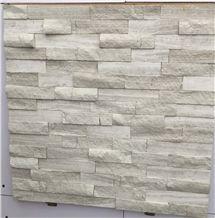 Oak White Marble Stacked Stone Ledger Panels-Oak White Split Face