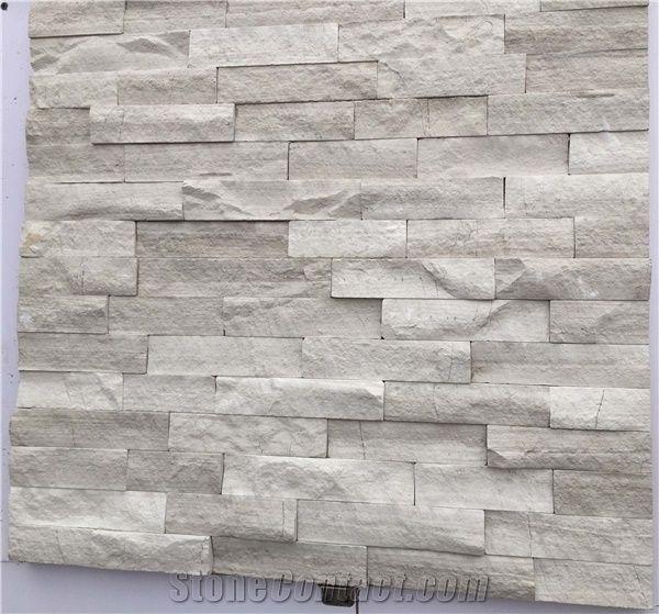Oak White Marble Stacked Stone Ledger Panels Oak White