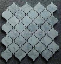 Carrara White Mosaic,Basketweave Mosaic