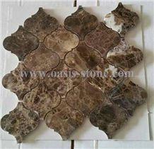 China Emperador Dark Marble Mosaic
