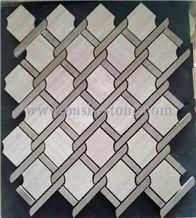 China White Marble Mosaic