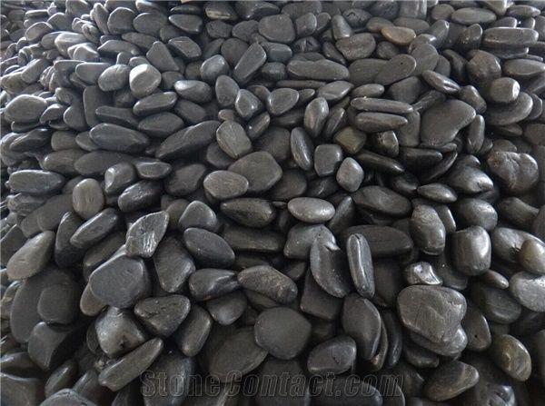 Fargo Black River Stone Honed Pebble Stone Black Pebble