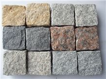 Fargo Single Cube Stone 9x9x9cm/10x10x10cm, Chinese Multicolor Granite Cobble Stone/Paving Stone, Multi-Color Granite Paving Cubes for Garden/Exterior Flooring/Courtyard/Driveway/Walkway Road