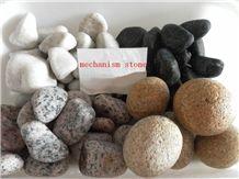Fargo Yellow Granite Pebble Stone,Yellow Tumbled Granite Pebble Stones, Subuda Yellow Granite Pebble & Gravel