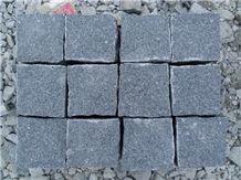 Padang Dark Grey Granite Fargo Cube Cobble Stone,Granite G654 Paving Stone, Padang Dark/China Impala/Sesame Black Cobble Setts Courtyard/Driveway Paving Stone, Classic Grey Granite Driveway Paving Sto