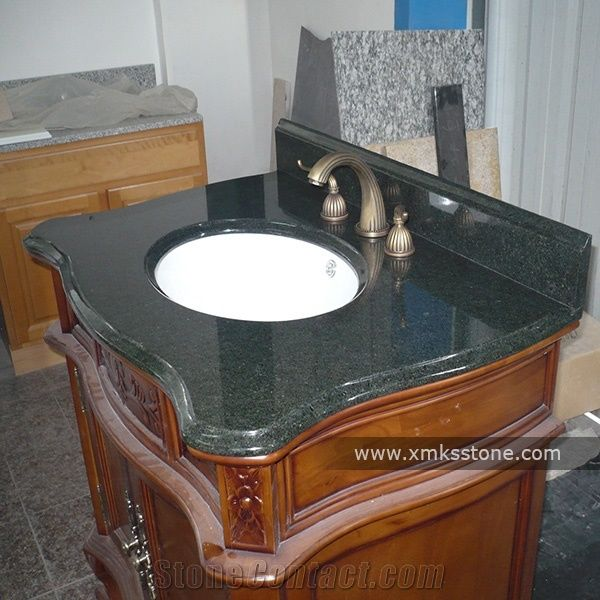 Green Gold Sand Granite Bathroom Vanity Top Custom Vanity Tops From China Stonecontact Com