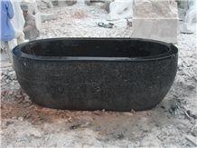 Black Limestone Bath Tub