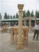 China Beige Marble Solid Column