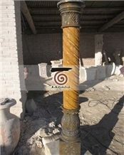 Hand Carved Marble Column Pillar