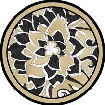 Black & Yellow Waterjet Medalion, Beige Marble Elegant Waterjet Inlay Medallions/Customized/New Design/Best Quality/Interior Decoration
