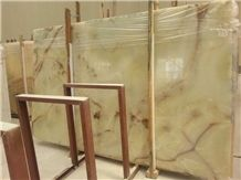 Light Green Onyx Slabs & Tiles Wholesale Stone Distributed Tops Factory
