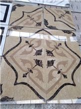Natural Stone Marble Waterjet Medallion,Floor Pattern,Inlay Marble Rosette Hot Sale Hotel Indoor Decotation