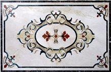 Simple Best Waterjet Medalion,Beige Marble Elegant Waterjet Inlay Medallions/New Design/Best Quality/Floor Covering/Interior Decoration/