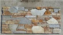 White/Yellow/Grey Different Panel Panel Multicolor Stone Slate Cultured Stone Flooring and Wall Covering Culture Stone Natural Surface Hammered China Wholesale