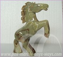 Onyx Horse Sculpture 16 Inch