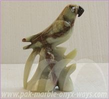 Onyx Parrot in Stock 8 Inch, Green Onyx Artifacts