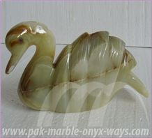 Onyx Swan Artifacts in Stock 8 Inch, Green Pakistan Onyx Artifacts