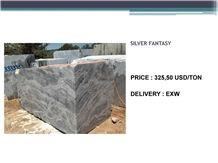 Silver Fantasy Marble Block, Turkey Grey Marble