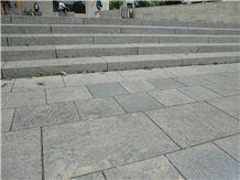 Fossil Smoke Muschelkalk Honed Pavement
