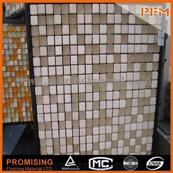 Glass And Stone Mosaic Tiles Glass Wall Art Pictures Bathroom
