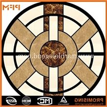 Lack and White Marble Inlay Flooring Design,Italian Marble Flooring Design, Dark Emperador/Golden Year/Rosso Verona/Crema Marfil/Honey Onyx/Onyx Green/India Green Marble Medallion