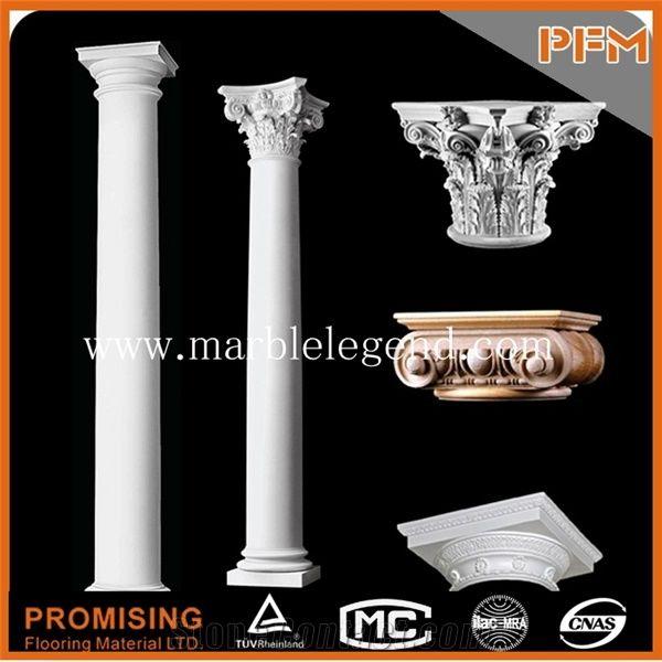Marble Column Pillar Roman Round Pillars Natural Stone Columns