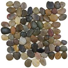 Natural Multicolor Pebble Tile Polished