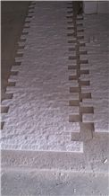 Milky White Marble Exposed Wall Stone