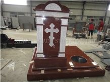 Indian Red Granite Headstone,Western Style and Russia Monuments & Tombstones,Headstones,Gravestone in Our Factory