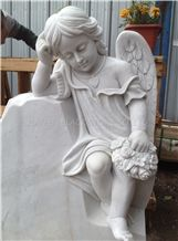 White Marble Angel Tombstones,Monuments,Headstones and Gravestone,Russia/Europe/America Style