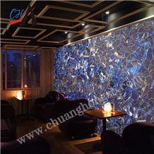 Luxury Marble Natural Honey Onyx Slabs & Tiles, Bookleaf Bluestone Slabs & Tiles