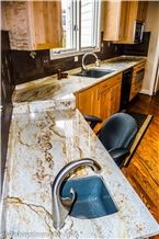 Golden River Granite Kitchen Countertop