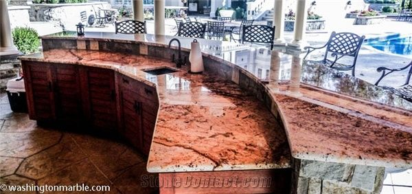 Yellow River Granite Outdoor Bar Top From United States