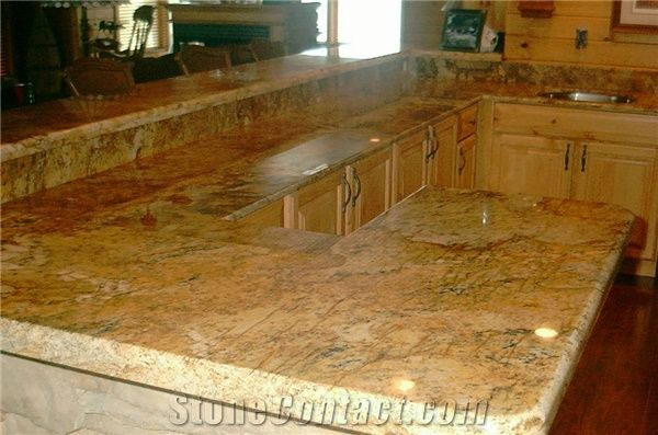 Golden Beach Granite Kitchen Countertop from United States