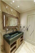 Verde Bamboo Quartzite Bathroom Custom Vanity Top