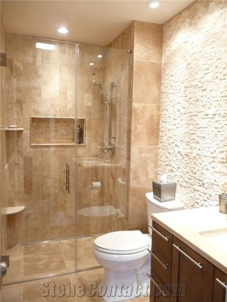 Spa Bathroom Remodel Classic Travertine Plank Set Linear Drain Custom Bathroom Remodleing Set