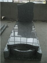 Wave White Granite Monument,White Tombstone,Western Headstone,France Monument Style Design
